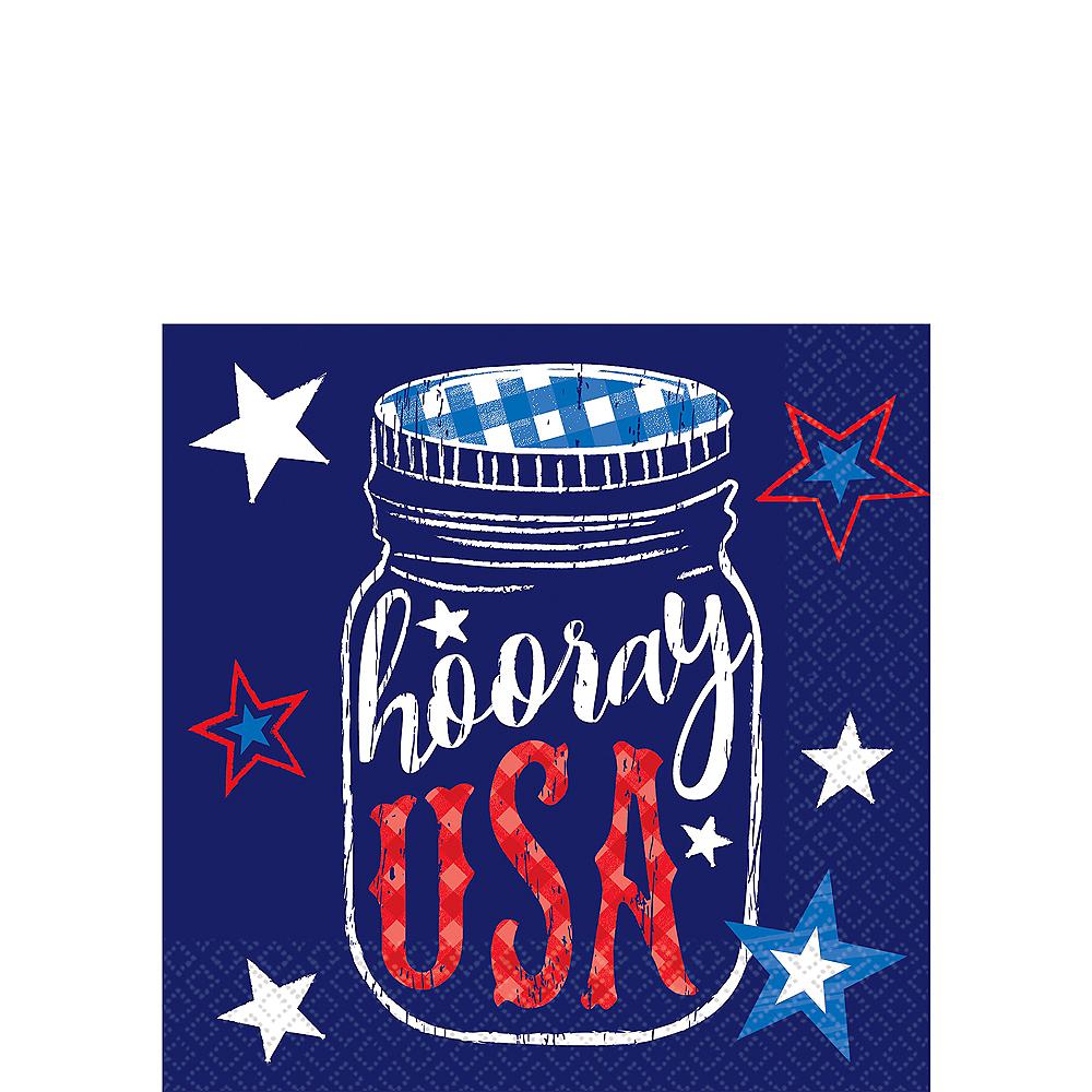 Patriotic Hooray USA Beverage Napkins 36ct Image #1