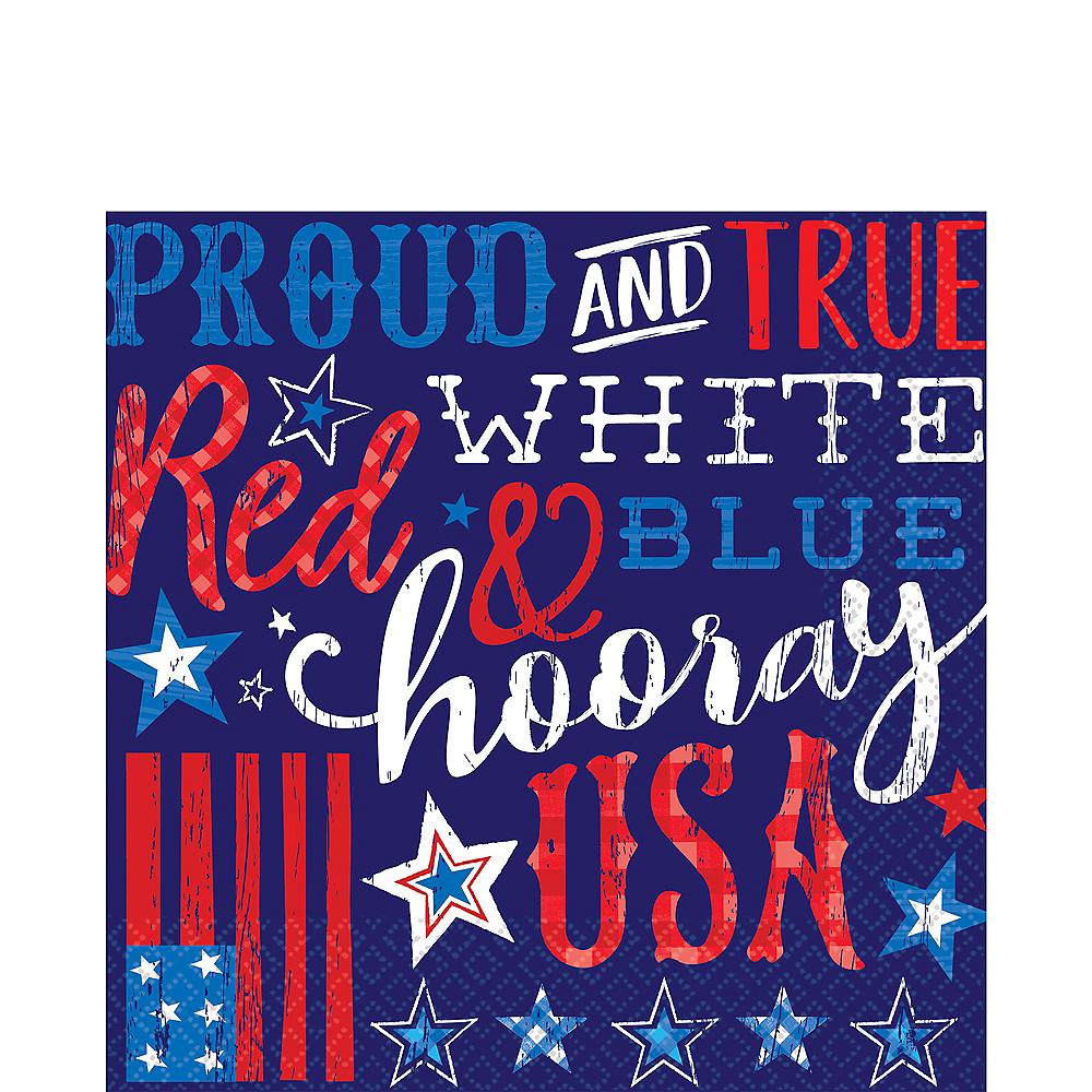 Patriotic Proud & True Lunch Napkins 36ct Image #1