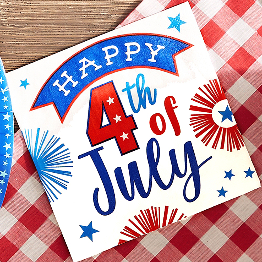 Patriotic 4th of July Beverage Napkins 16ct Image #2