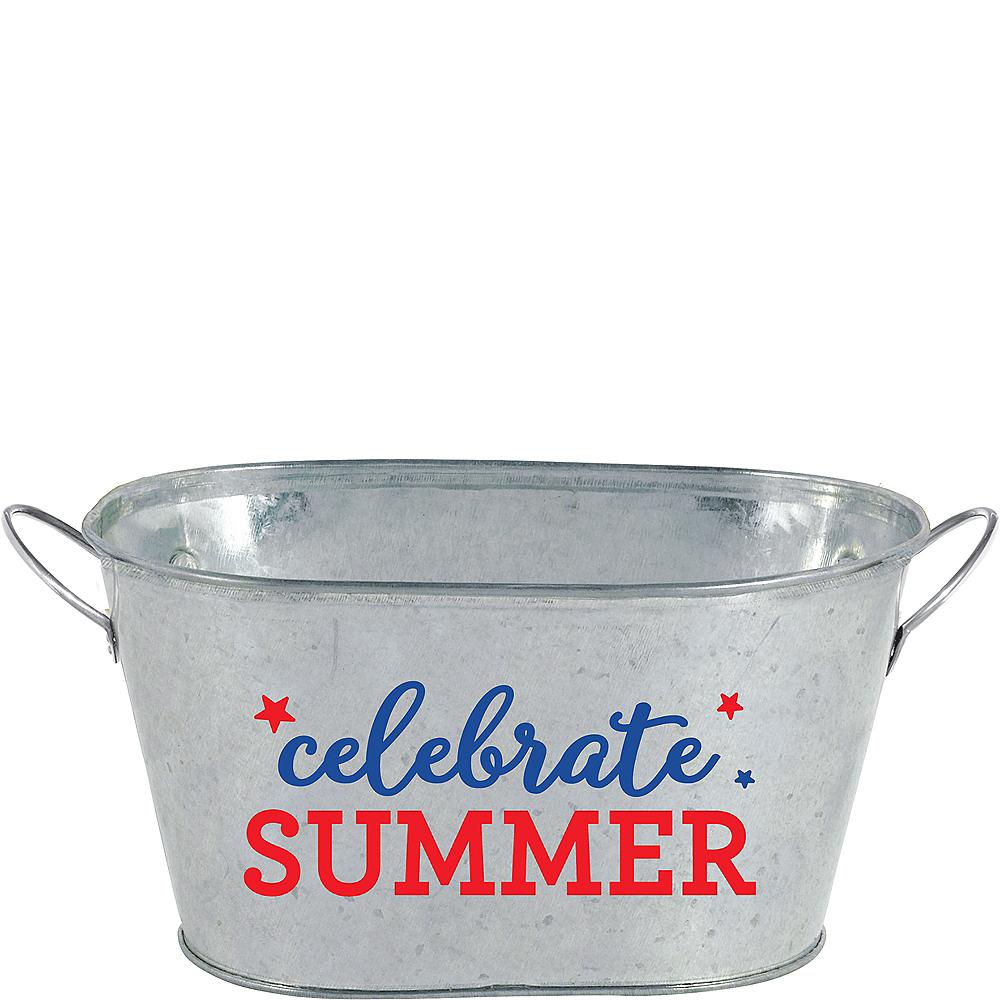 Mini Celebrate Summer Galvanized Tub Image #1