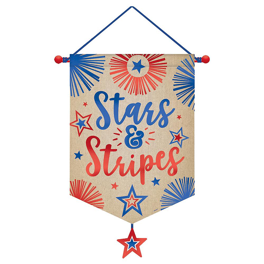 Patriotic Stars & Stripes Canvas Banner Image #1