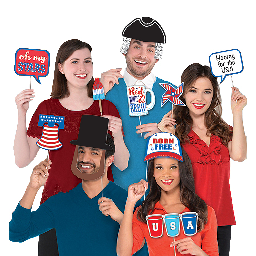Patriotic Photo Booth Props 13ct Image #1