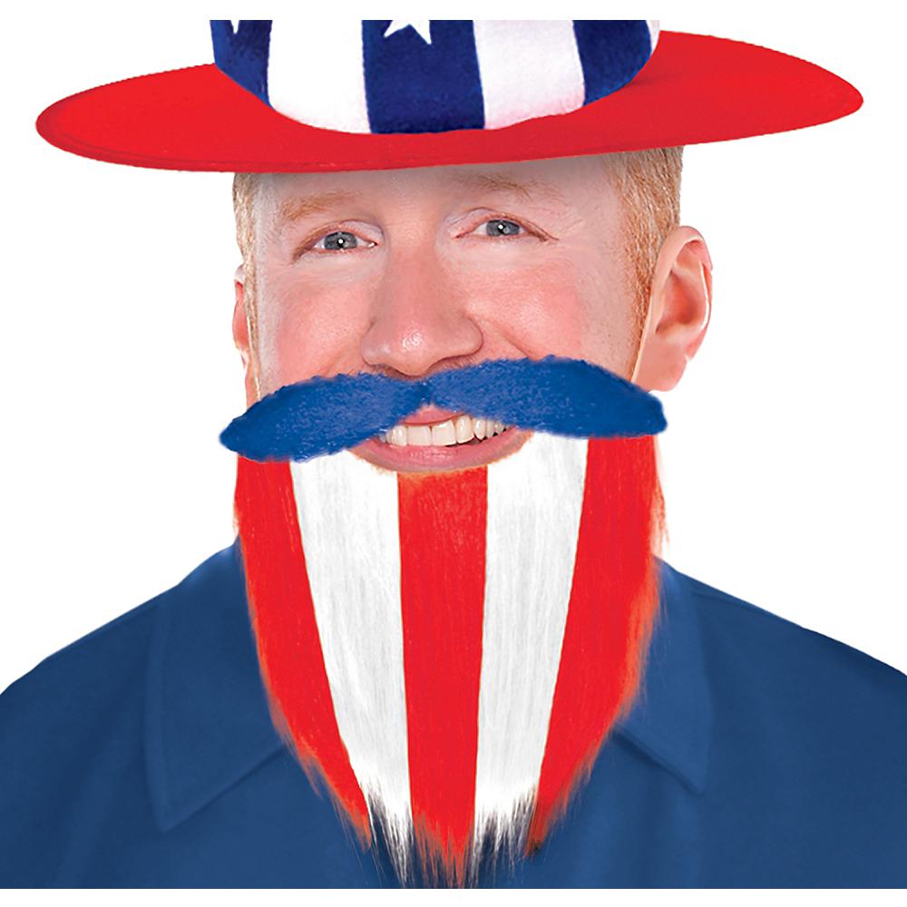 Patriotic Red, White & Blue Beard Image #1