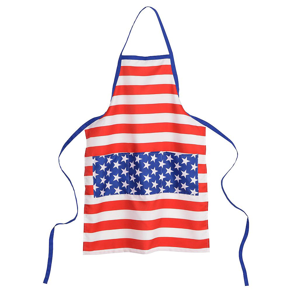 Patriotic American Flag Apron Image #1