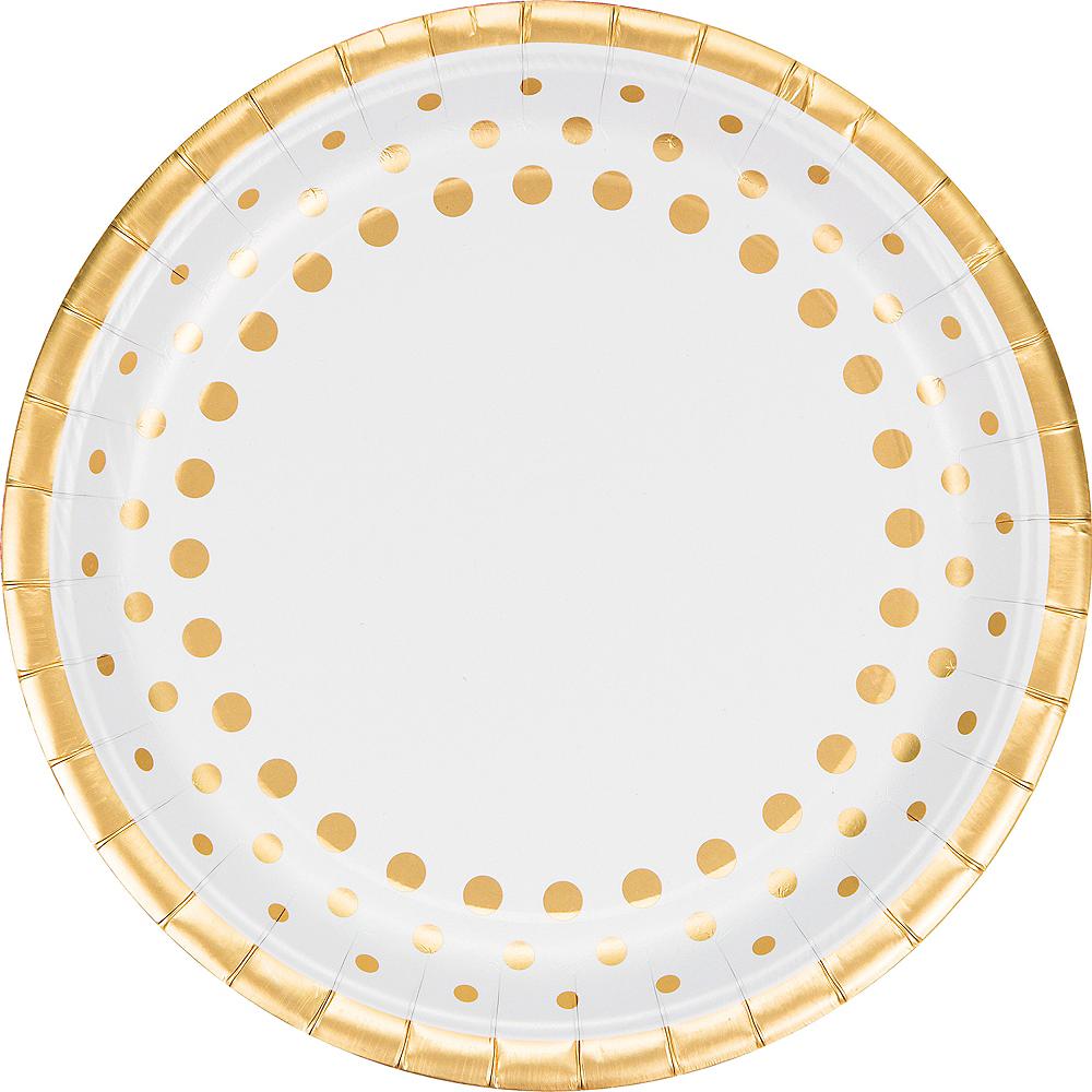 Metallic Gold Dots Dinner Plates 8ct Image #1