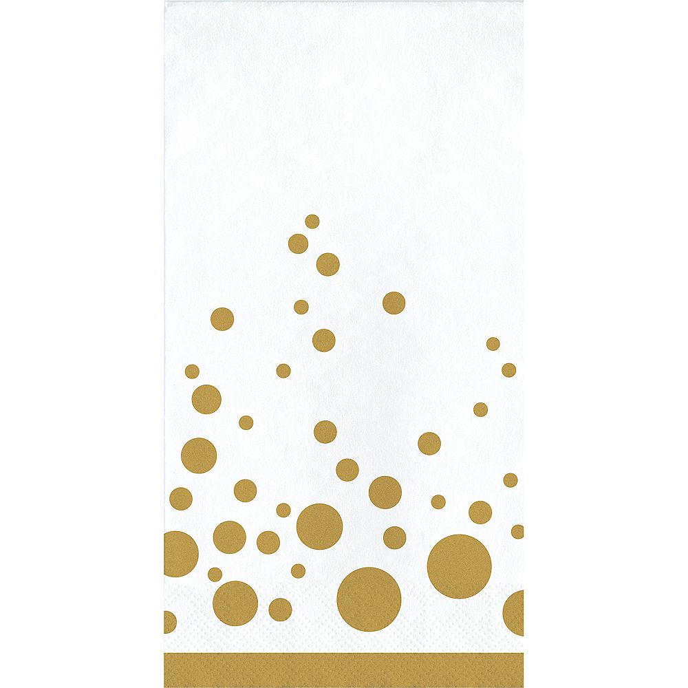 Metallic Gold Dots Guest Towels 16ct Image #1