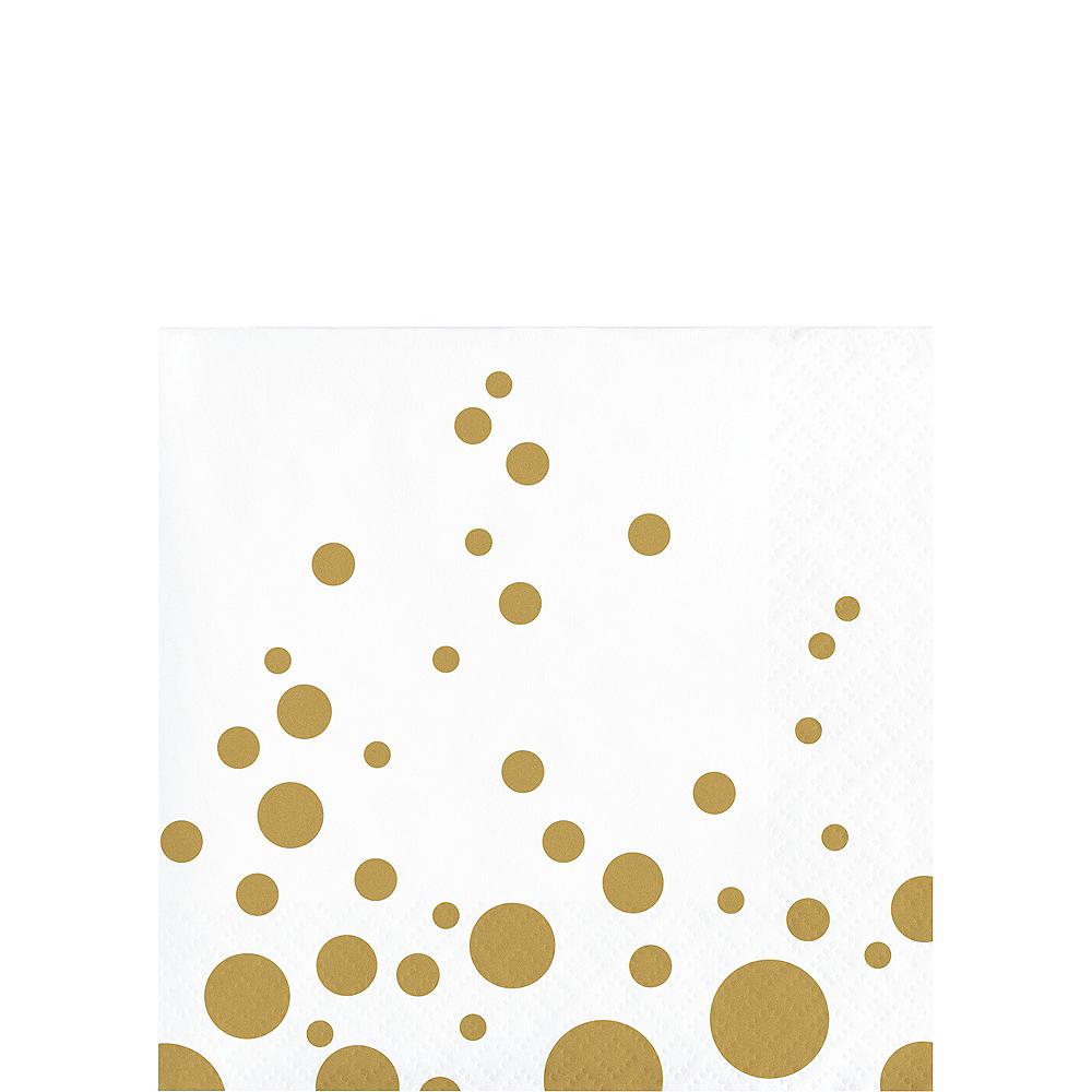 Metallic Gold Dots Beverage Napkins 16ct Image #1