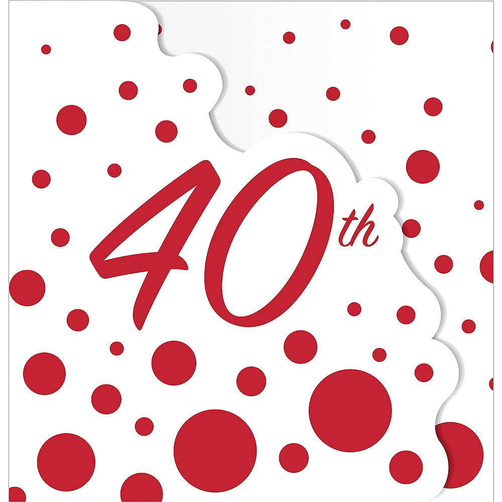 Ruby Dots 40th Anniversary Invitations 8ct   Party City Canada