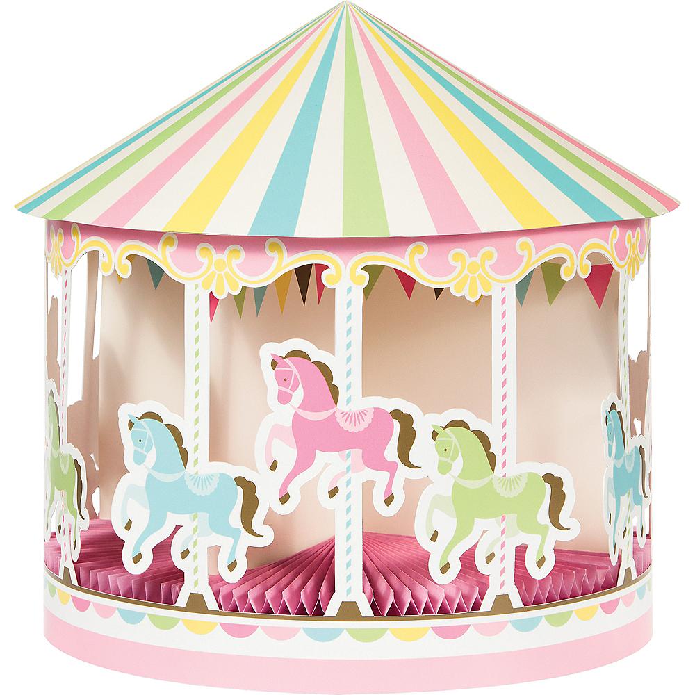 Pink Carousel Centerpiece Image #1