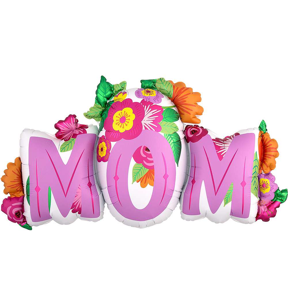 Giant Tropical Flowers Mom Balloon Image #1