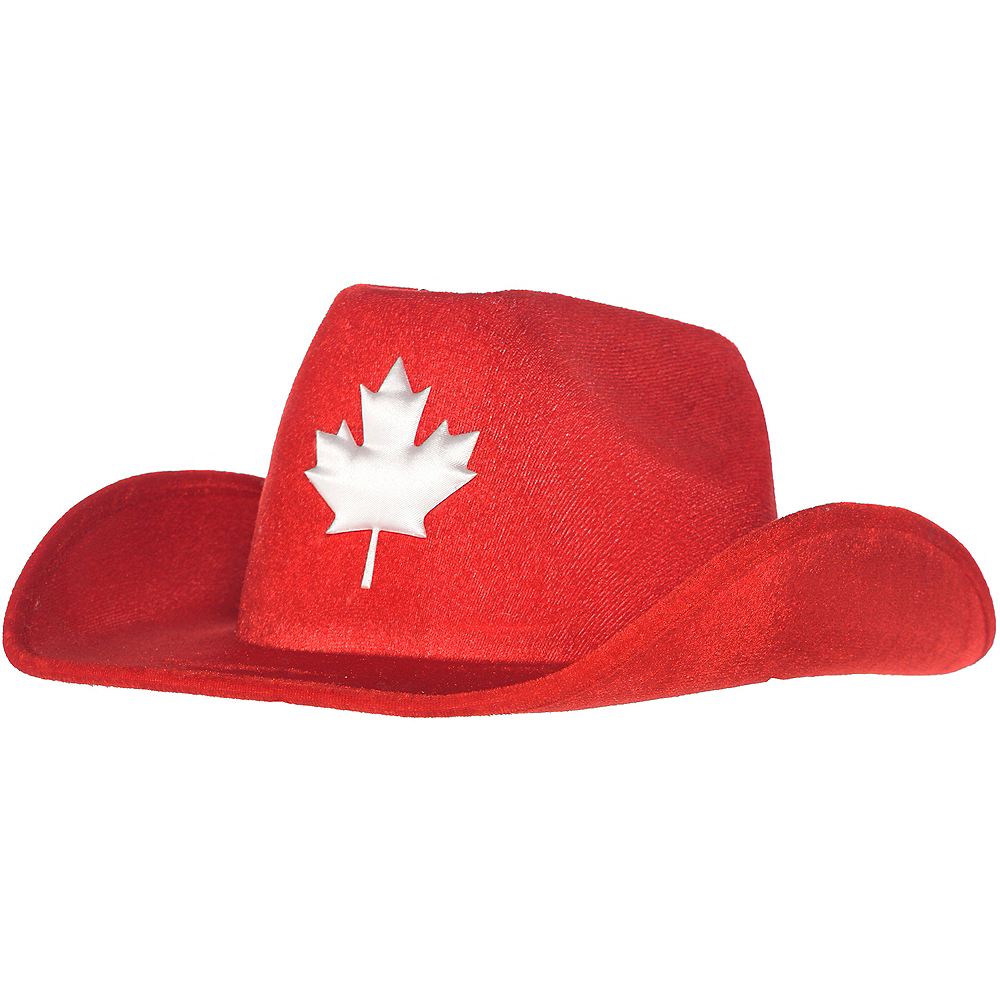 Adult Canadian Maple Leaf Cowboy Hat 12in x 5in  6121aa79032