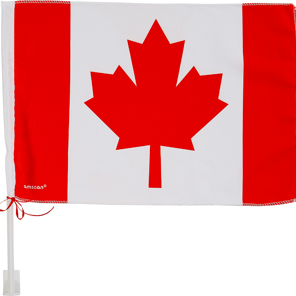 Canadian Flag Car Flag Image #1