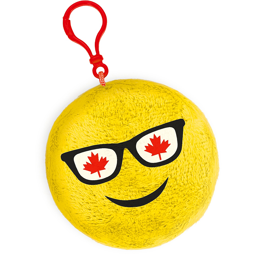 Clip-On Canadian Maple Leaf Sunglasses Smiley Plush Image #1