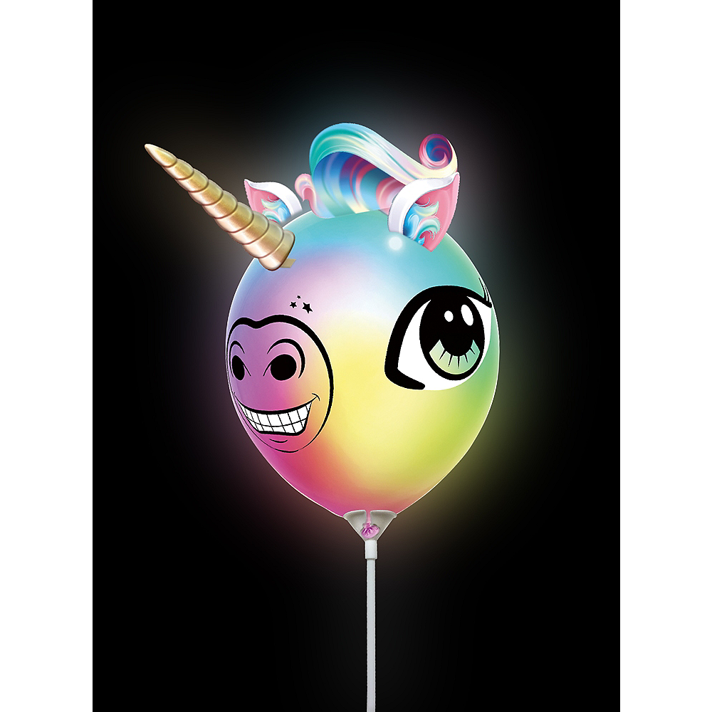 Illooms Light-Up Unicorn Color-Changing LED Balloon, 9in Image #3