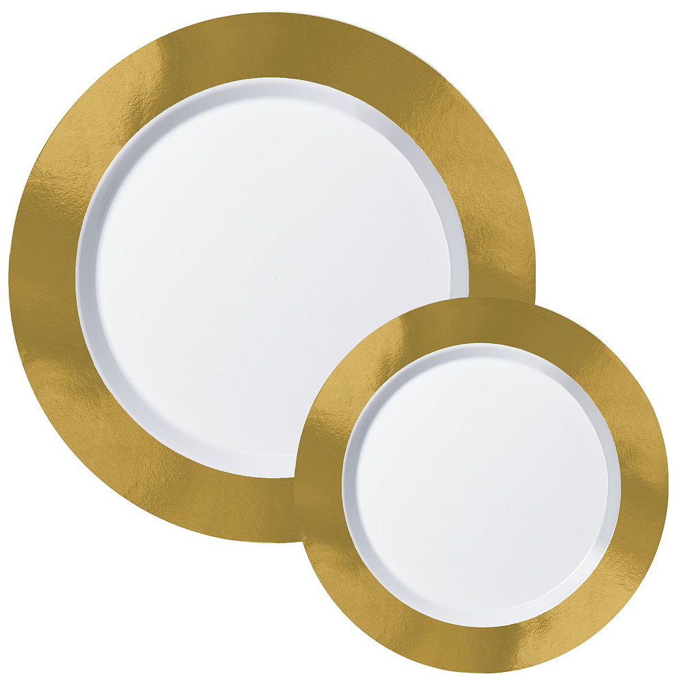 Premium Gold Border Tableware Kit for 20 Guests Image #2