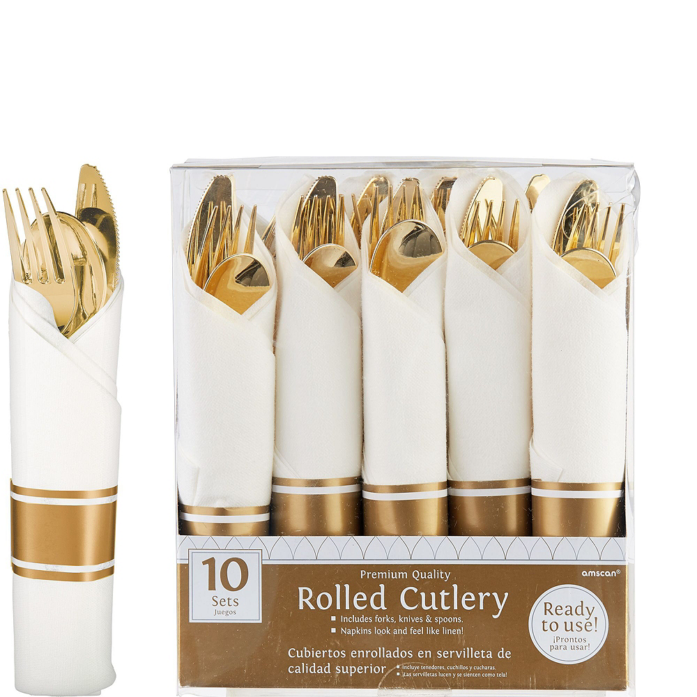Premium Gold Border Tableware Kit for 20 Guests Image #3