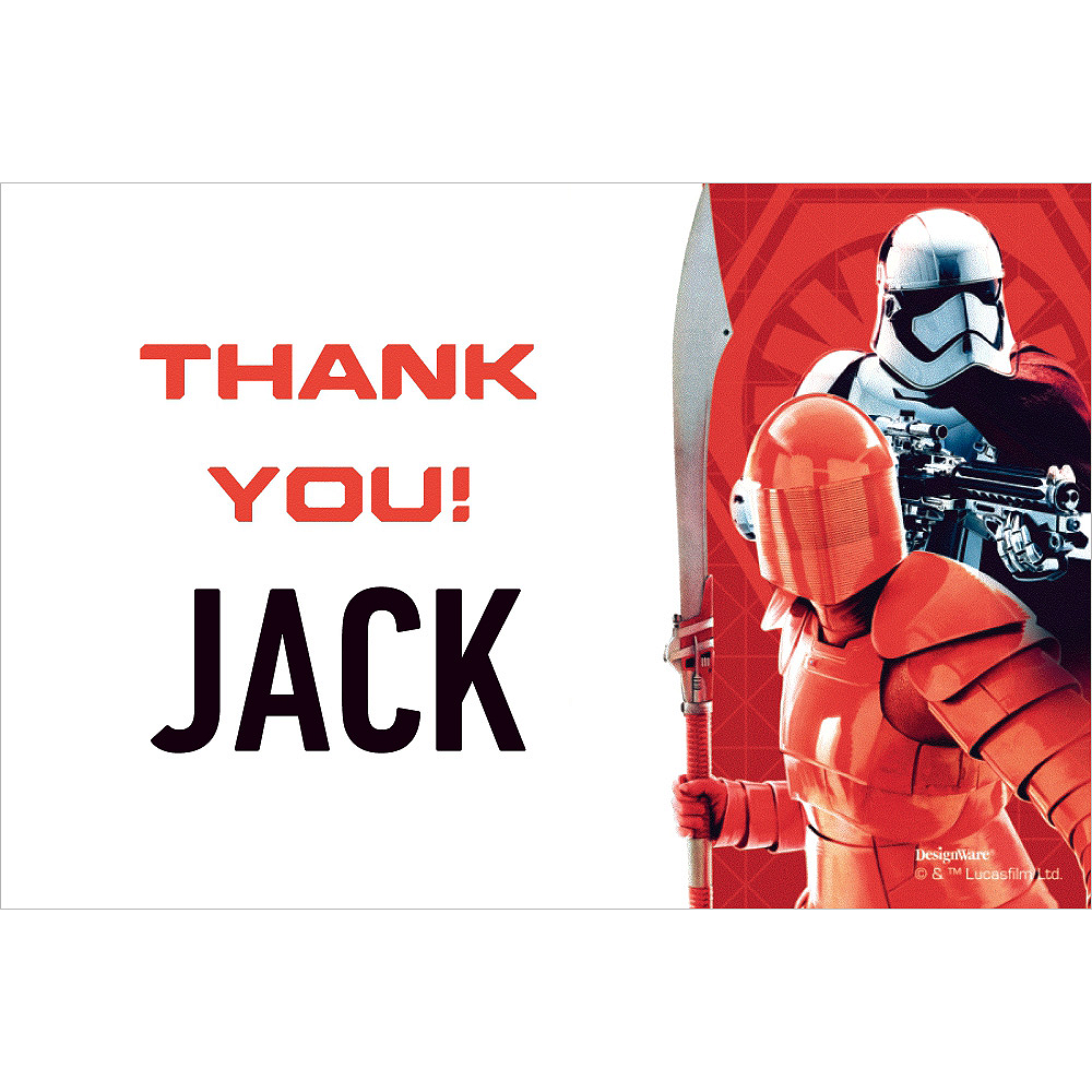 Custom Star Wars 8 Thank You Notes Image #1