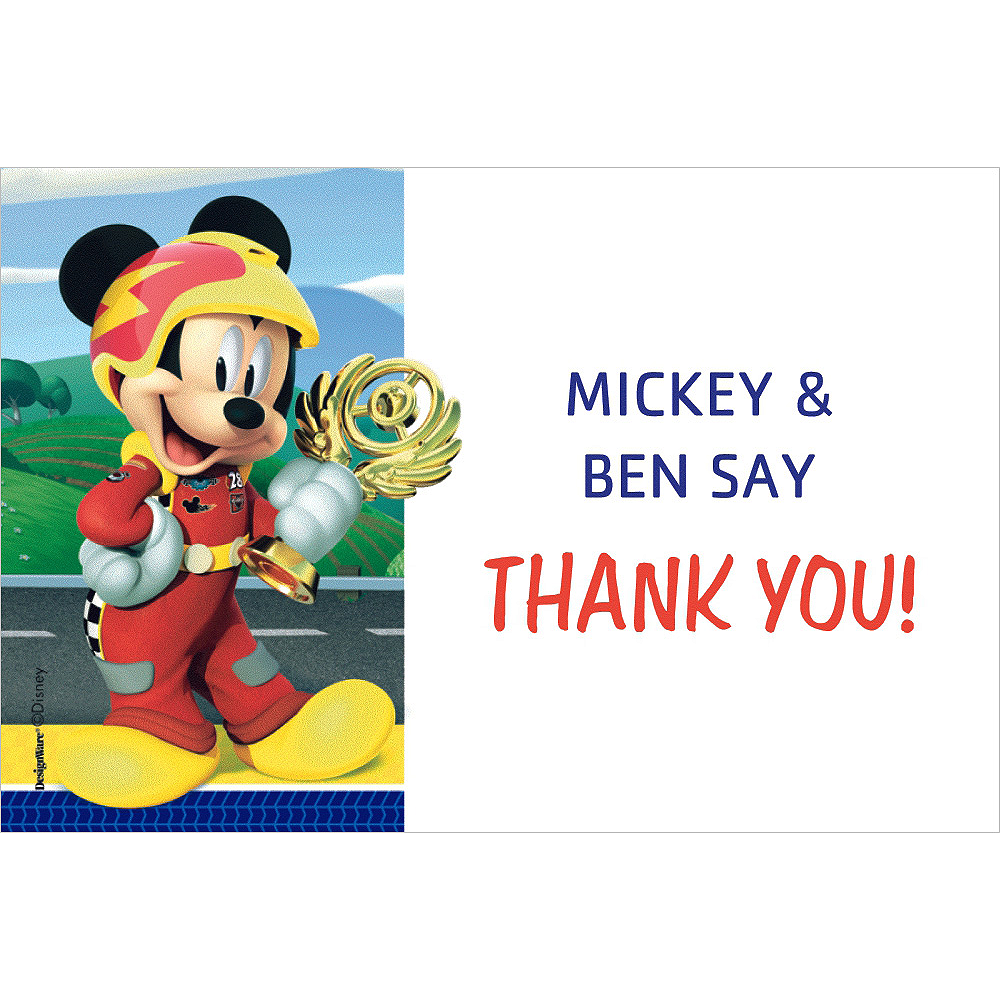 Custom Mickey & the Roadster Racers Thank You Notes Image #1