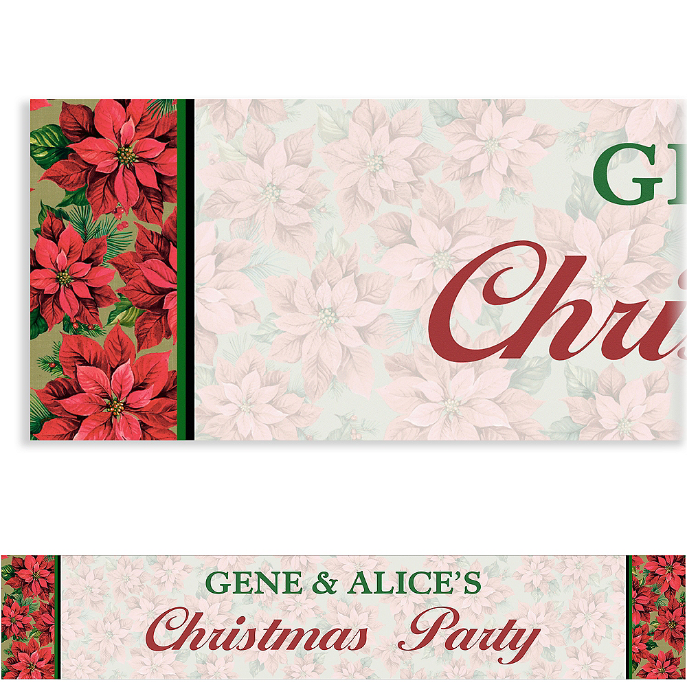 Custom Holiday Poinsettia Banner Image #1