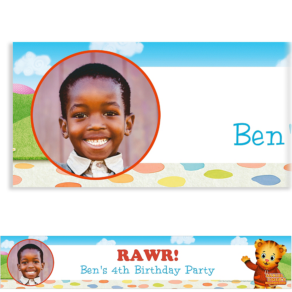 Custom Daniel Tiger's Neighborhood Photo Banner Image #1