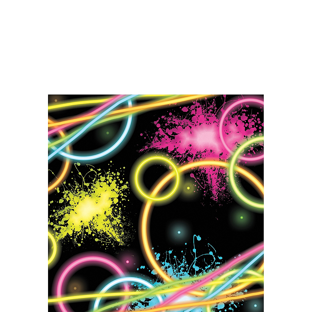 Neon Party Beverage Napkins 16ct Image #1