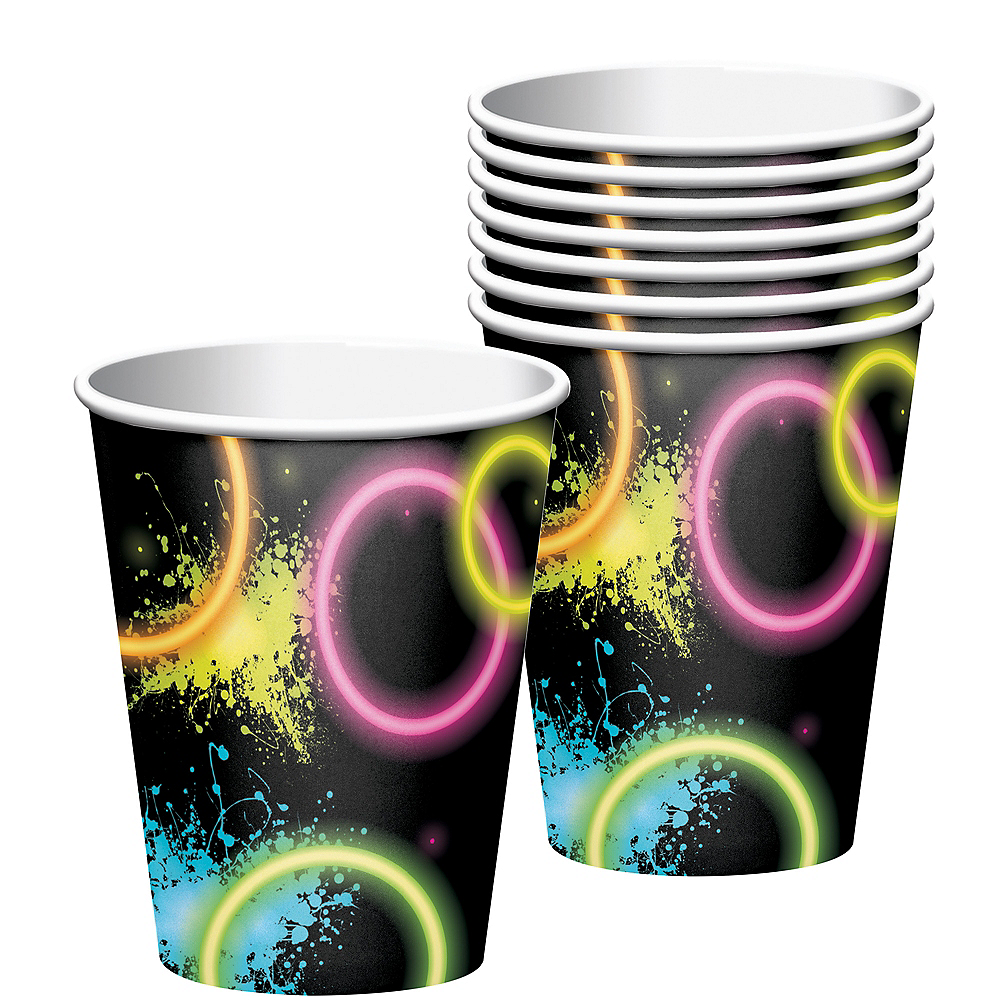Neon Party Cups 8ct Image #1