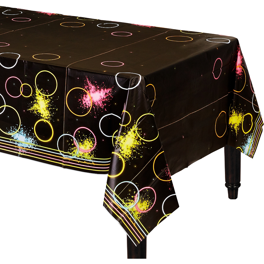 Neon Party Table Cover Image #1