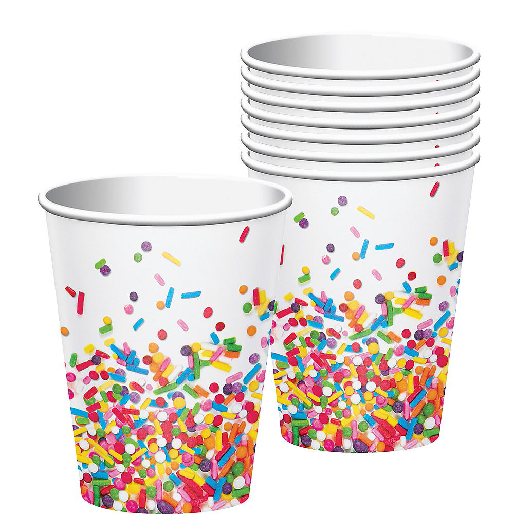 Rainbow Sprinkles Cups 8ct Image #1