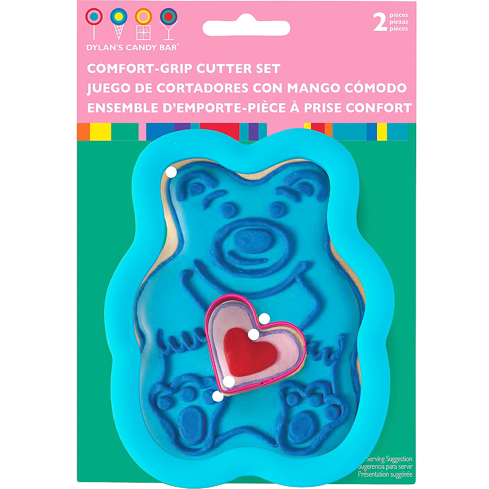 Wilton Dylan's Candy Bar Bear & Heart Cookie Cutter Set 2pc Image #2