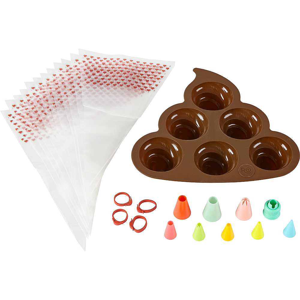 Wilton Rosanna Pansino Poop Icon Decorating Set Image #1