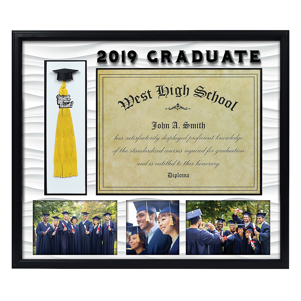 Black Graduation Photo Diploma Tassel Frame 18in X 15 12in