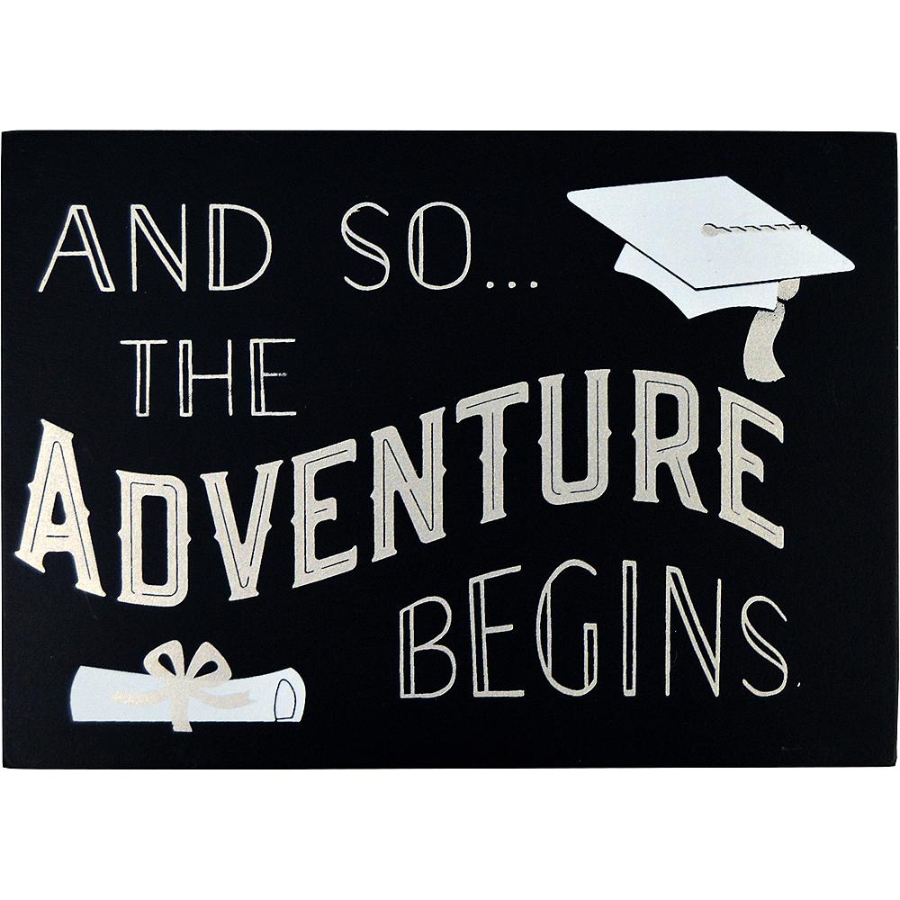 Adventure Begins Graduation Block Sign Image #1