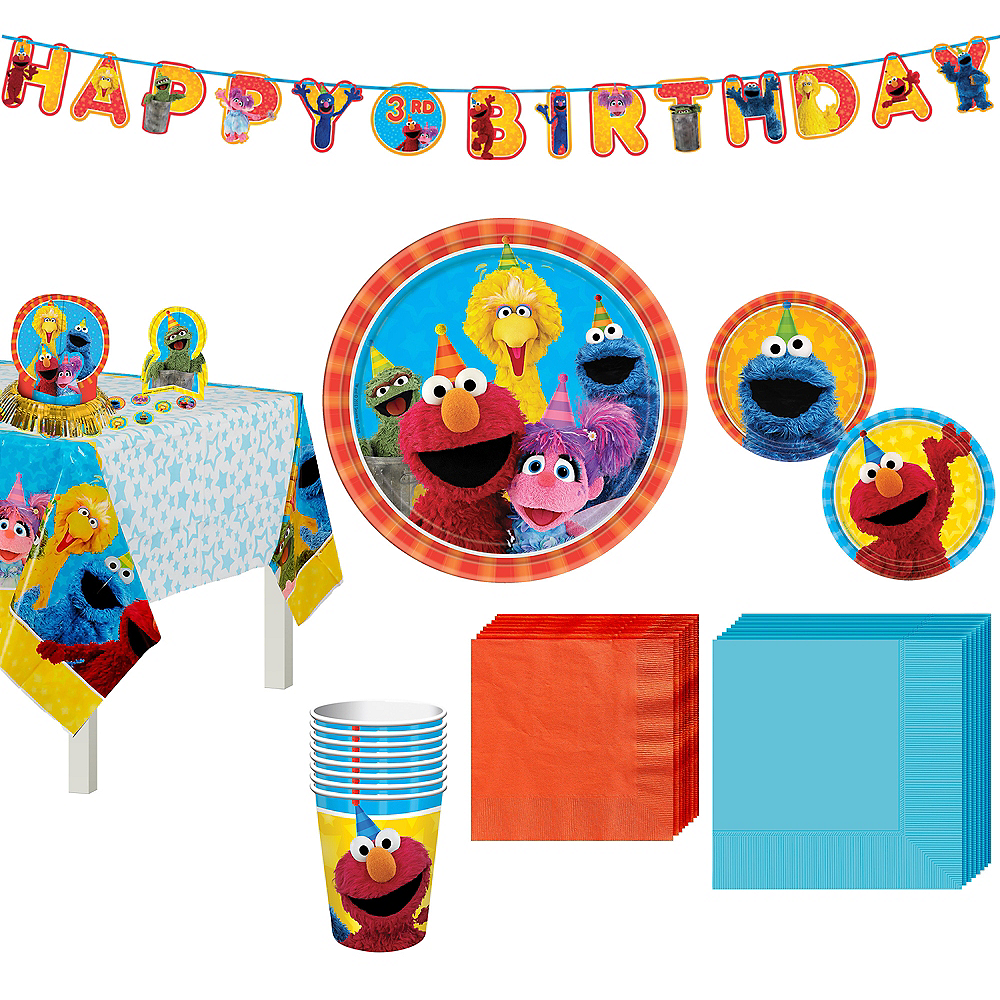 Sesame Street Tableware Party Kit for 8 Guests Image #1