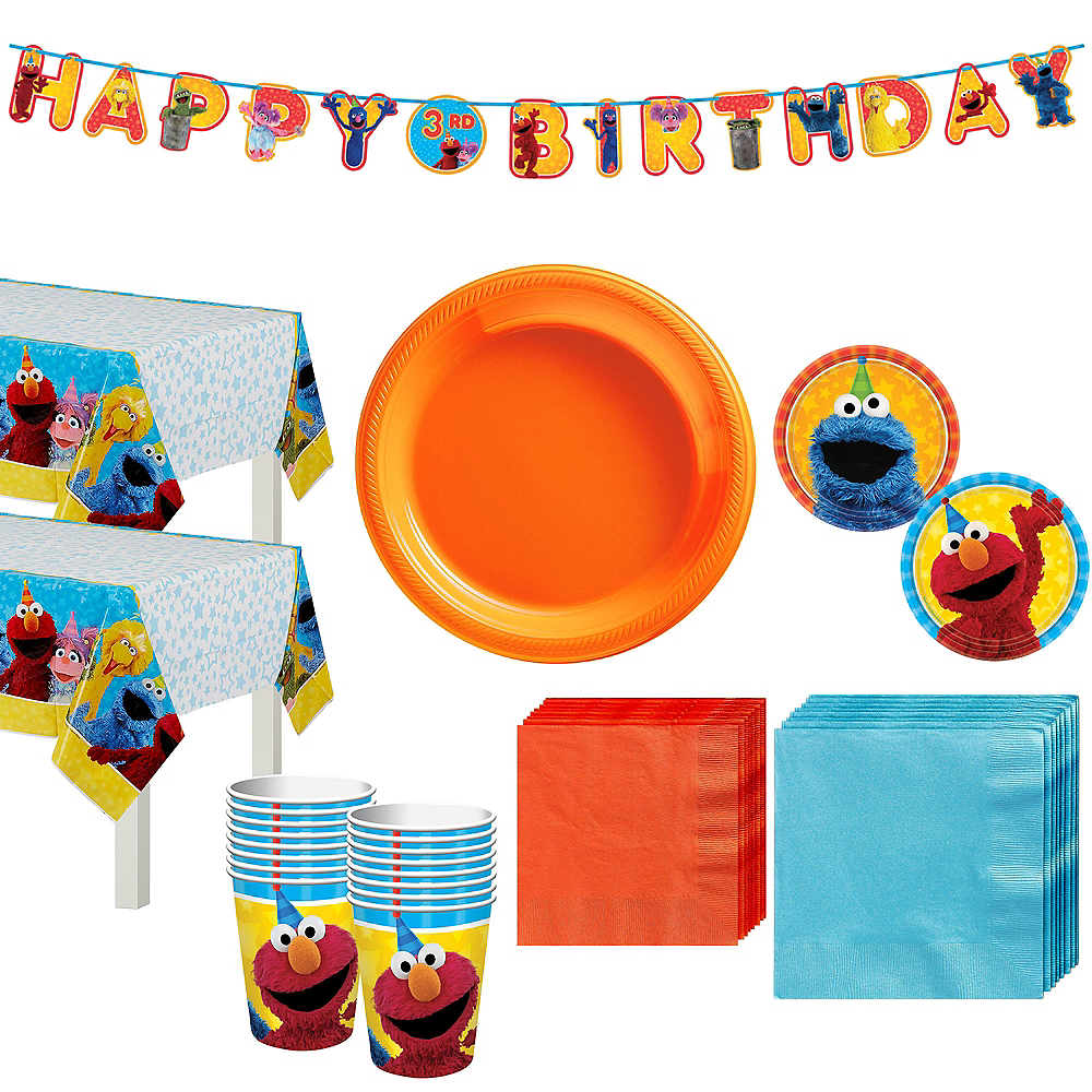 Sesame Street Tableware Party Kit for 16 Guests Image #1
