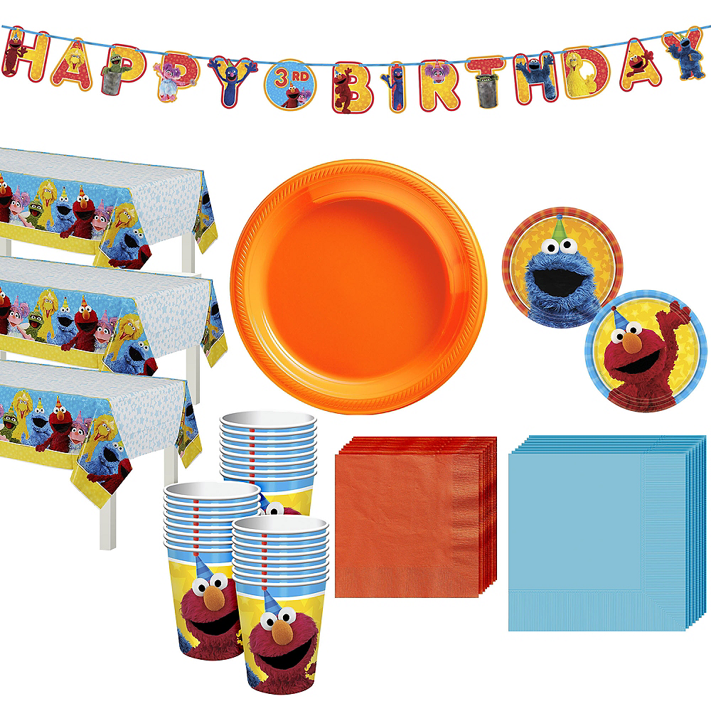 Sesame Street Tableware Party Kit for 24 Guests Image #1