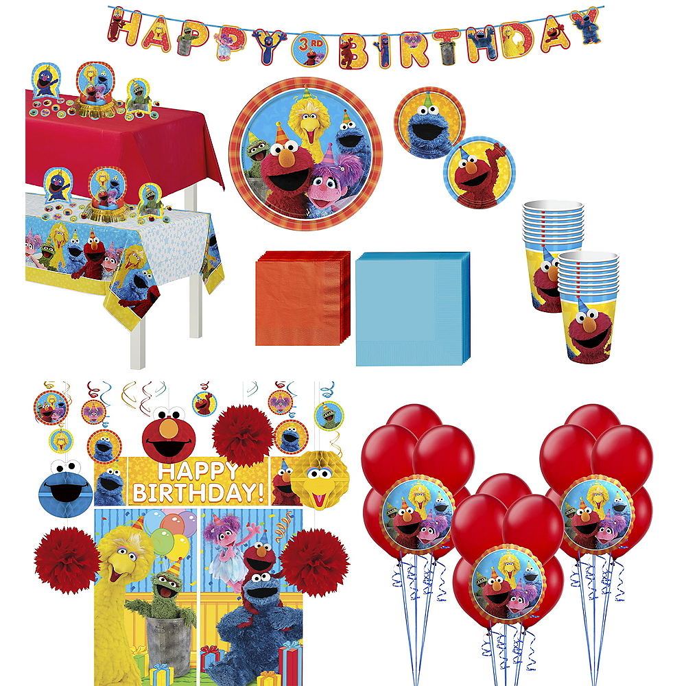 16 Sesame Street Stars Birthday Party Lunch Napkins