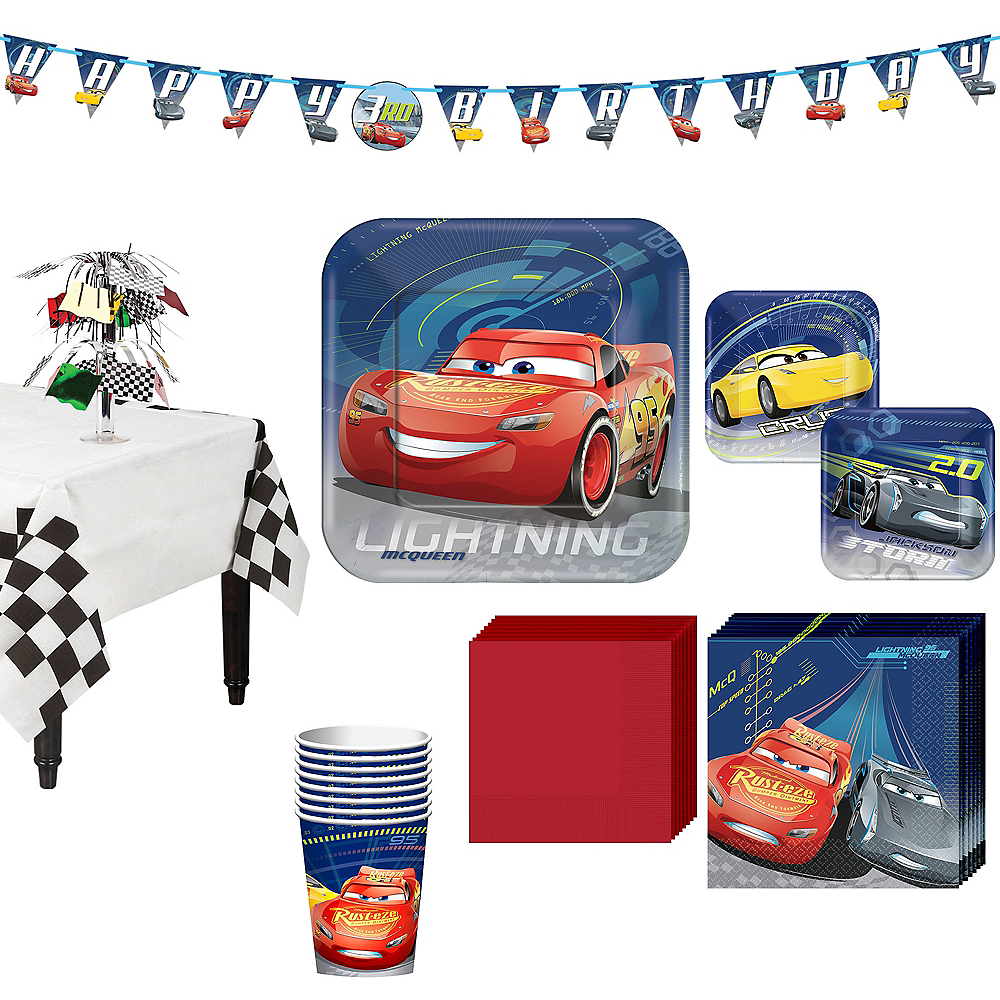 Cars 3 Tableware Party Kit for 8 Guests Image #1