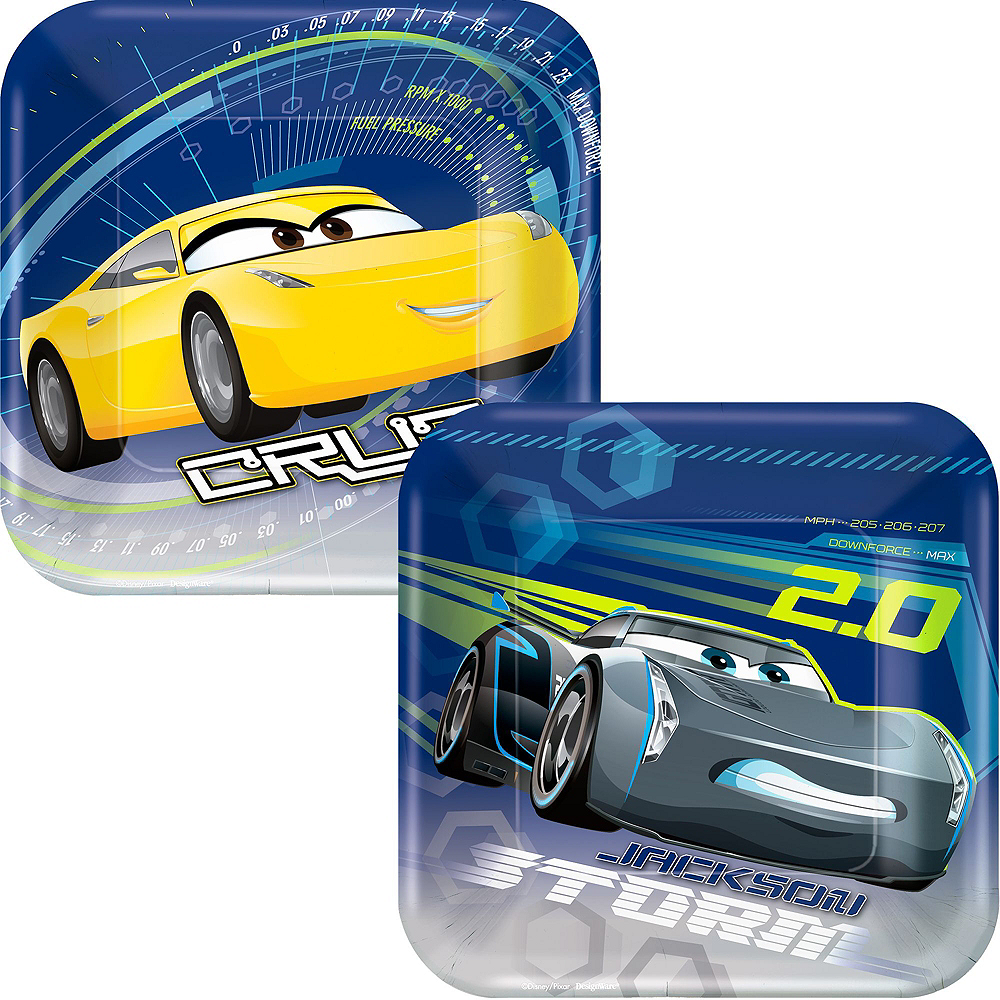 Cars 3 Tableware Party Kit for 8 Guests Image #2