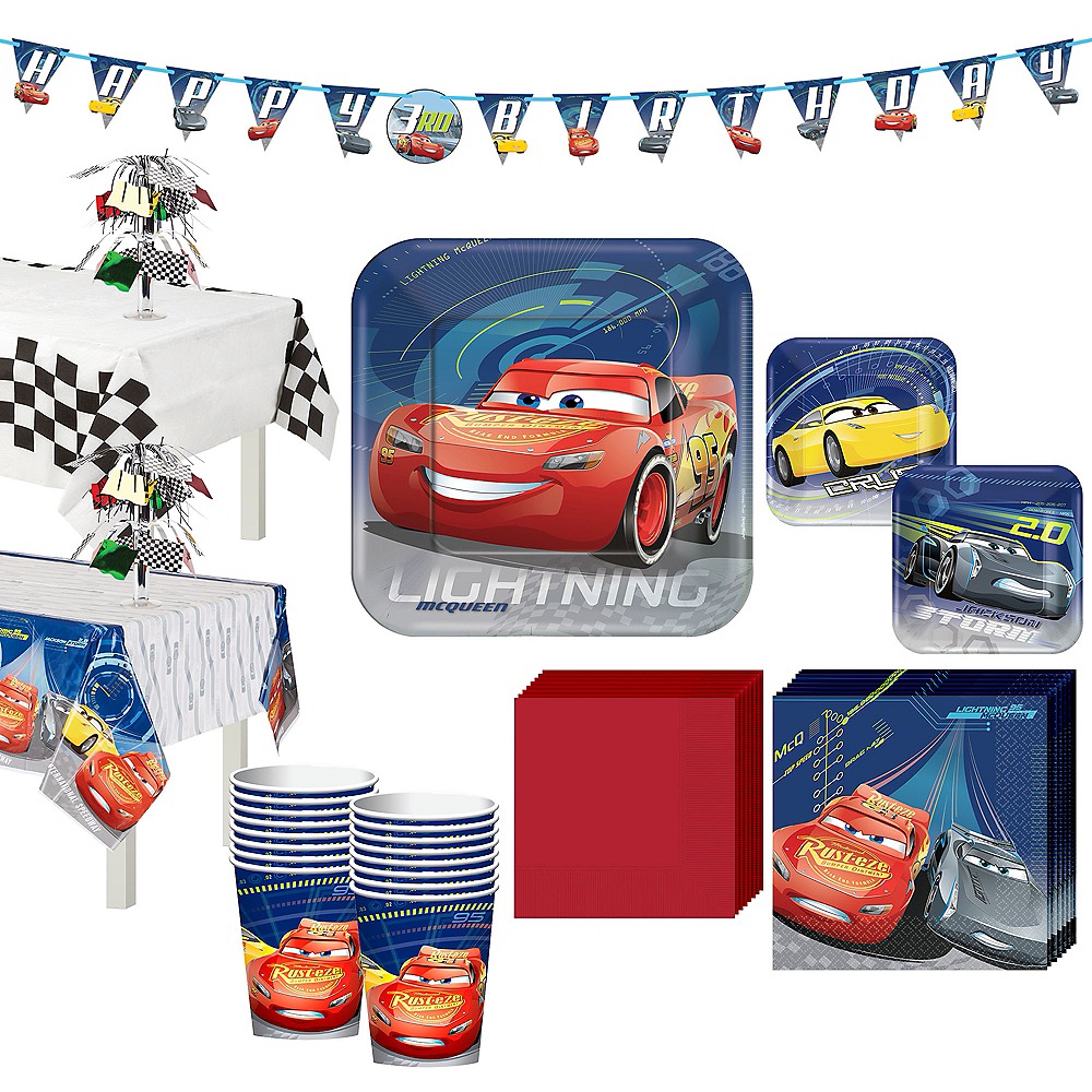 Cars 3 Tableware Party Kit for 16 Guests Image #1