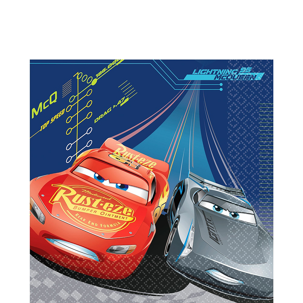 Cars 3 Tableware Party Kit for 16 Guests Image #5