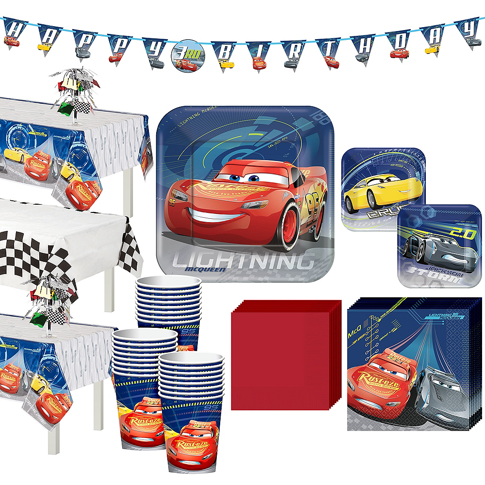 Cars 3 Tableware Party Kit for 24 Guests Image #1