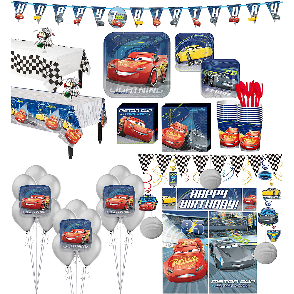 Cars 3 Tableware Ultimate Kit for 16 Guests Image #1
