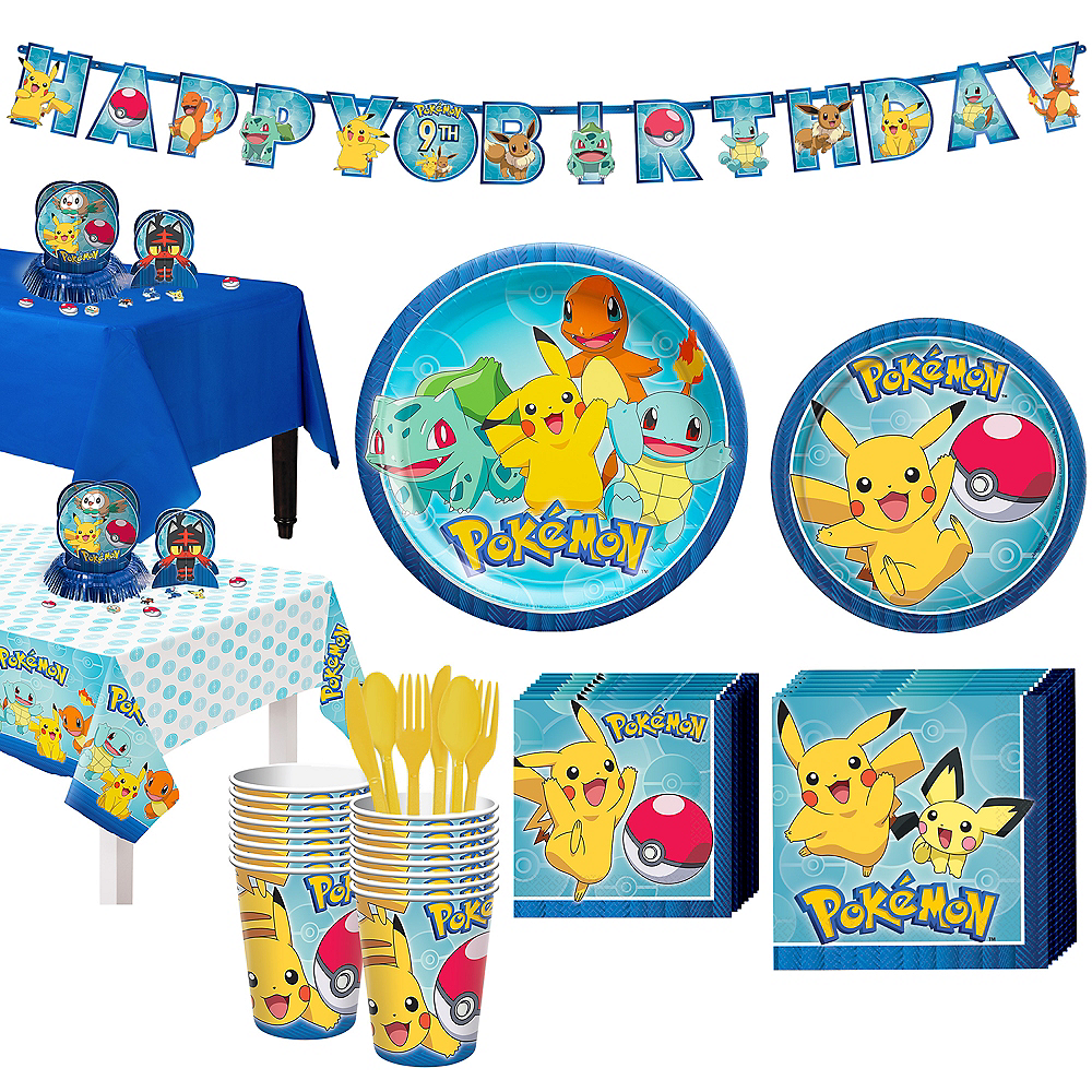Pokemon Tableware Party Kit for 16 Guests Image #1