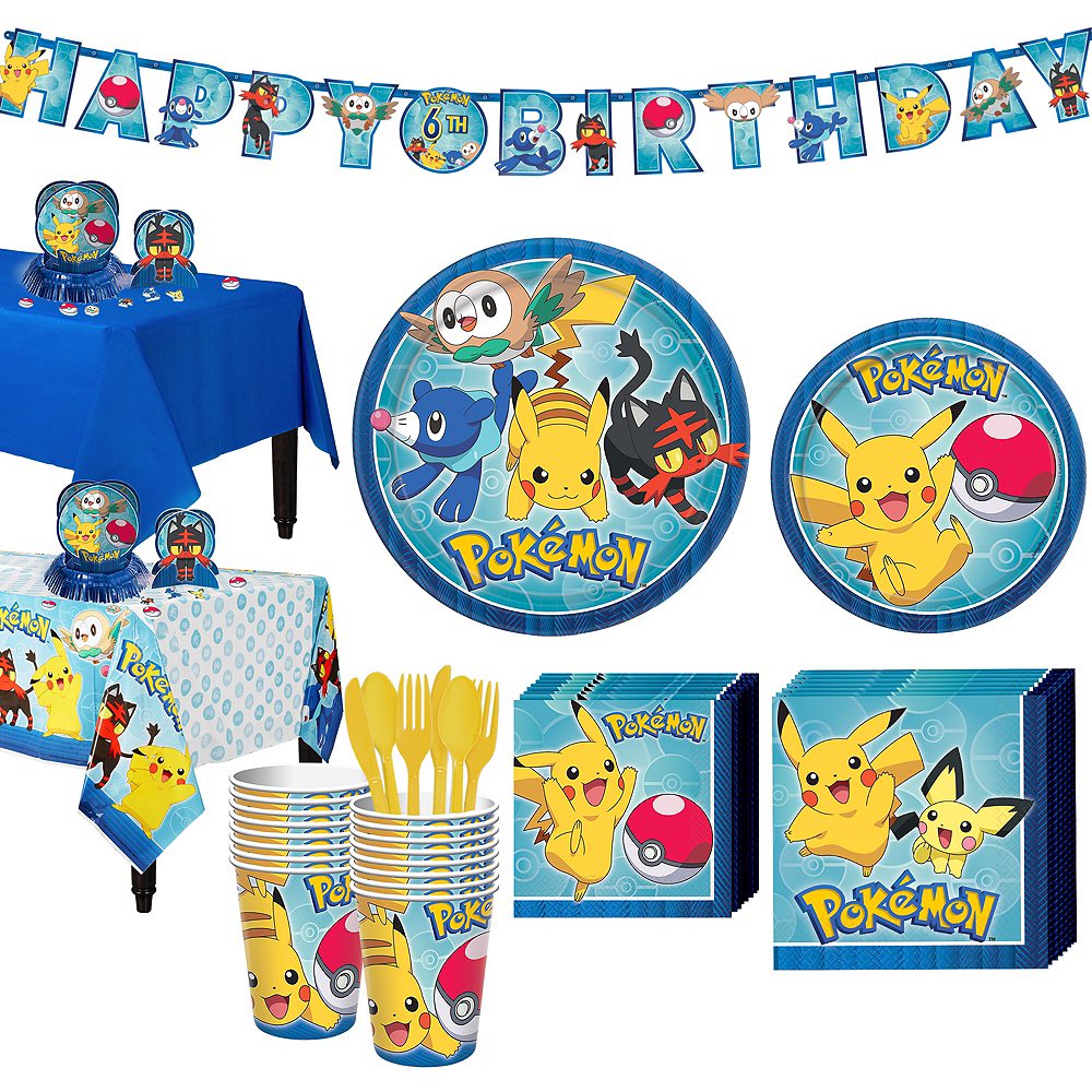 Pokemon Tableware Party Kit for 24 Guests Image #1