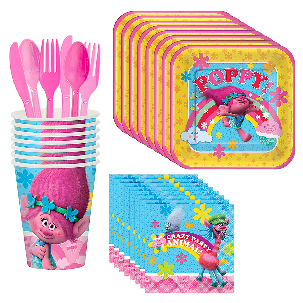 Trolls Tableware Party Kit for 8 Guests Image #1