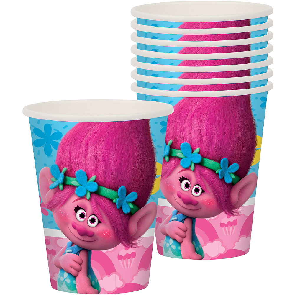 Trolls Tableware Party Kit for 8 Guests Image #4