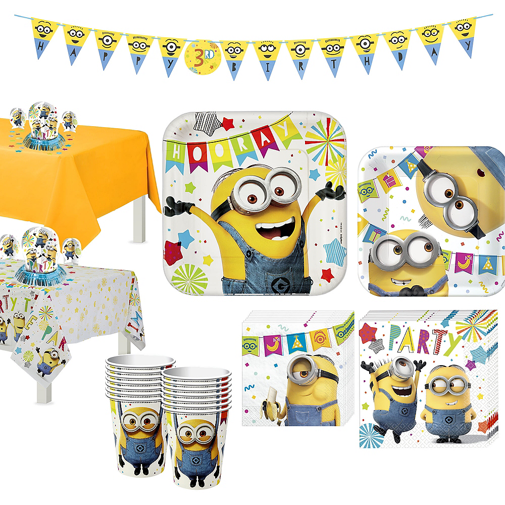 Minions Tableware Party Kit for 16 Guests Image #1