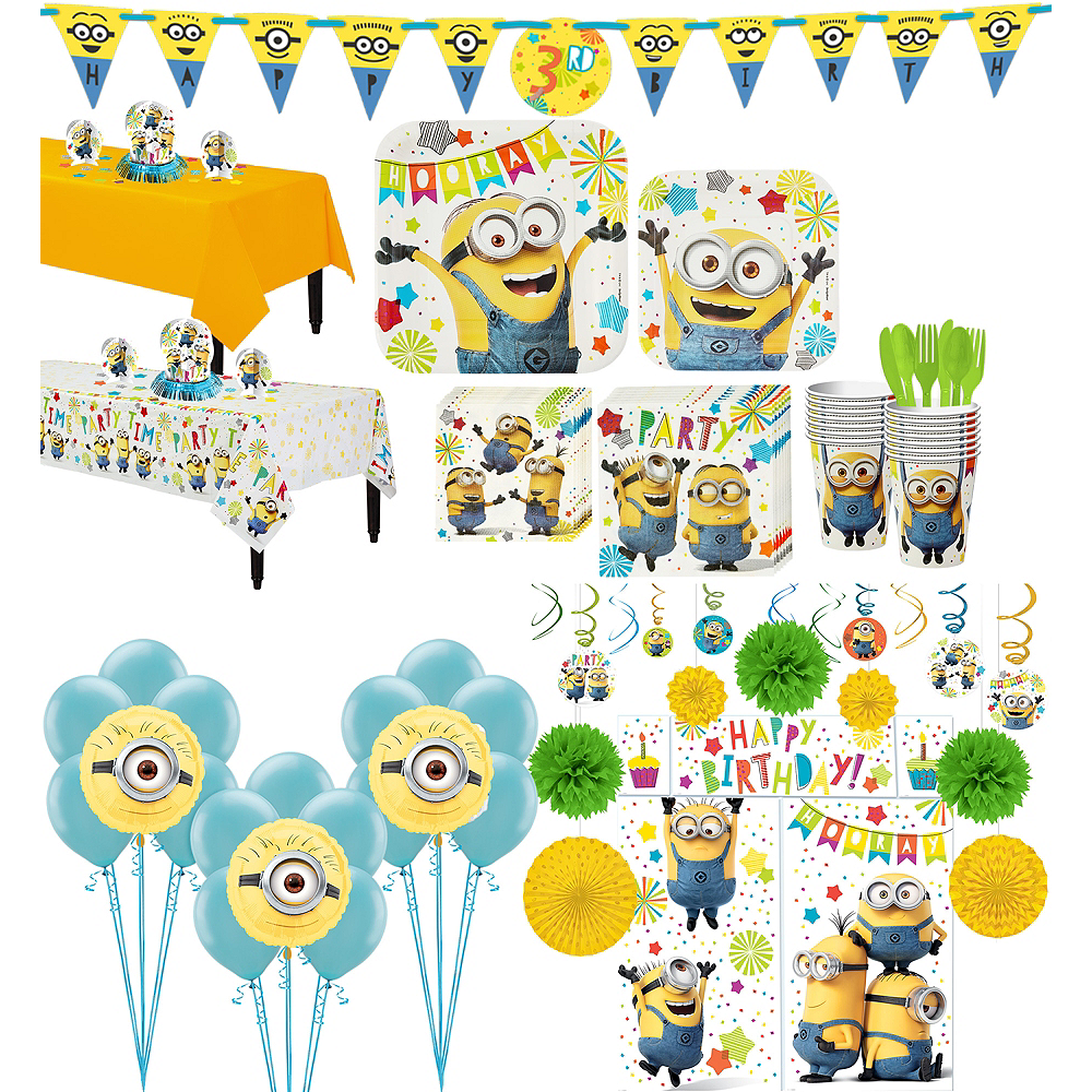 Minions Tableware Ultimate Kit for 16 Guests Image #1