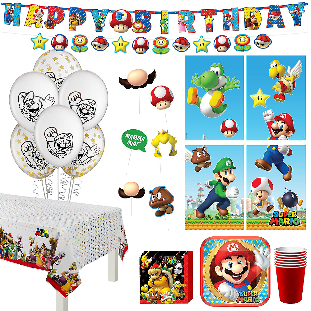 Super Mario Birthday Party Kit for 8 Guests Image #1