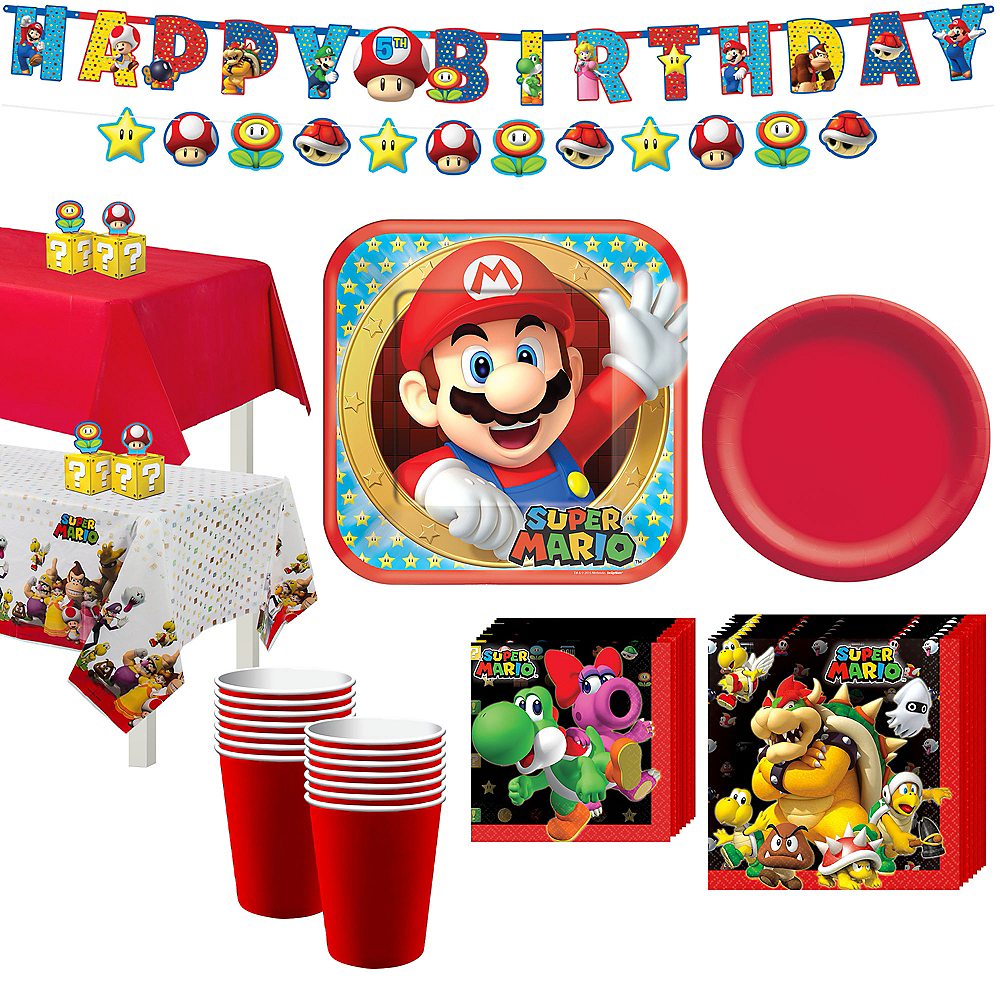 Super Mario Tableware Party Kit for 16 Guests Image #1